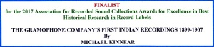 ARSC Awards for Exellence, Finalist 2017 - Michael Kinnear