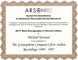 ARSC Award For Excellence 2017 - Michael Kinnear