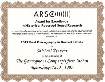 ARSC Award for Excellence 2017 - Michael Kinnear