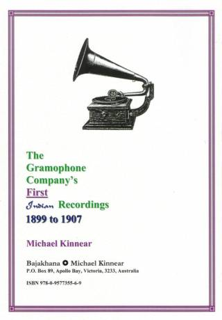 The Gramophone Company's First Indian Recordings - 1899-1907 - Michael Kinnear - Back Cover ebay