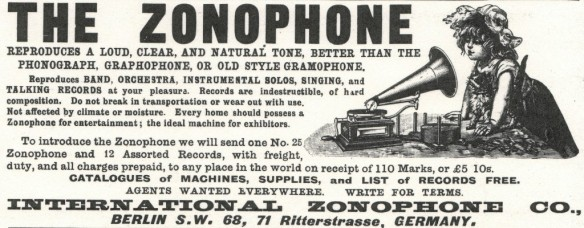 International Zonophone Co., Advertisement, The Zonophone
