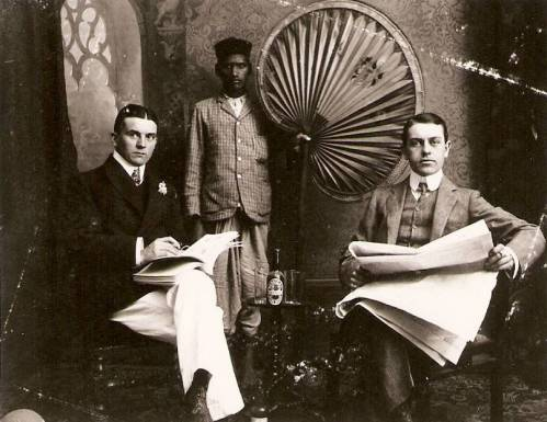 Max Hampe and William Sinkler Darby, Bombay, 1905