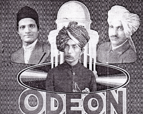 Ruby Record Company, Bombay, Abdul Karim Khan, Odeon Records Cardboard Packing Box - Private Collection