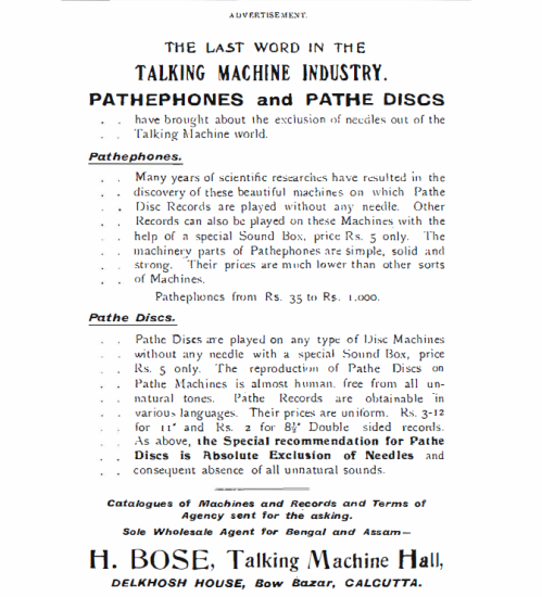 An Advertisement from Thackers Indian Directory, 1910