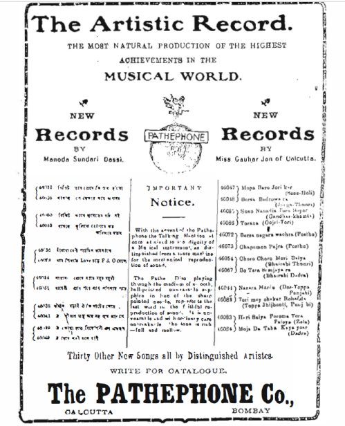 An Advertisement from - The Bengalee, circa early 1912