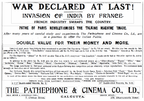"An Advertisement from ""The Statesman"", 12th April, 1908"