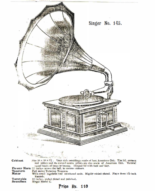 Singer Talking Machines, Singer No. 145