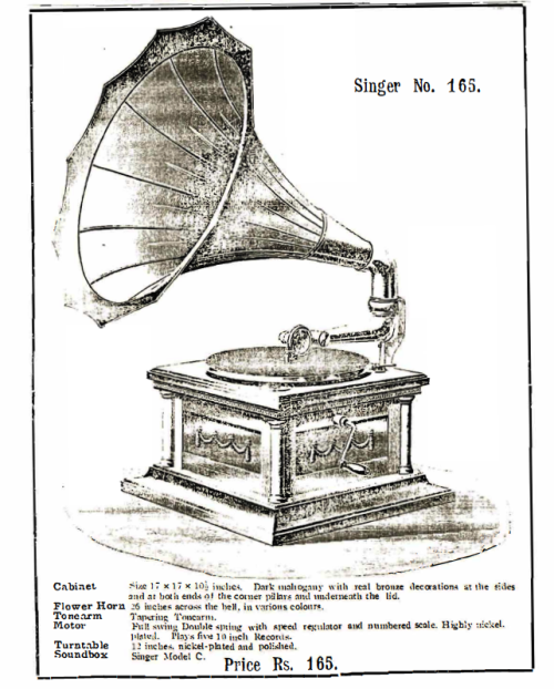 Singer Talking Machine, Singer No. 165