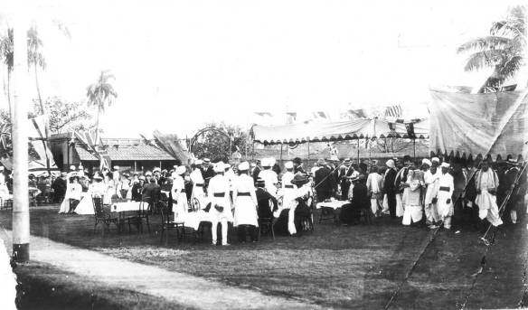 """The """"Official"""" Opening of The Gramophone Company, Ltd's factory at Sealdah, Calcutta on 18 December 1908."""