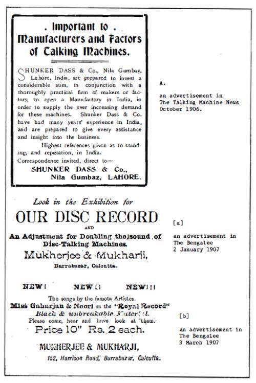 Advertisement, Royal Record, 1906